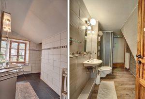 Verschillende badkamers in het vakantiehuis